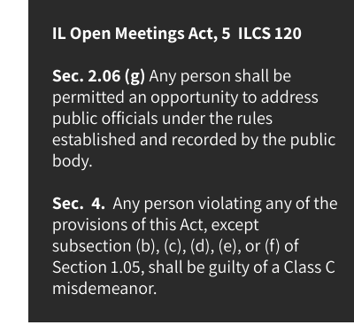 IL Open Meetings Act, 5 ILCS 120